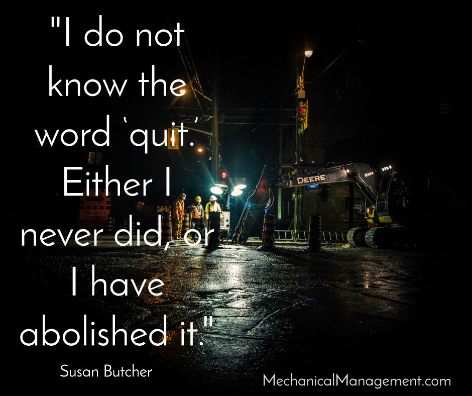 I do not know the word quit